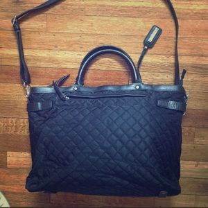 Banana Republic black quilted tote